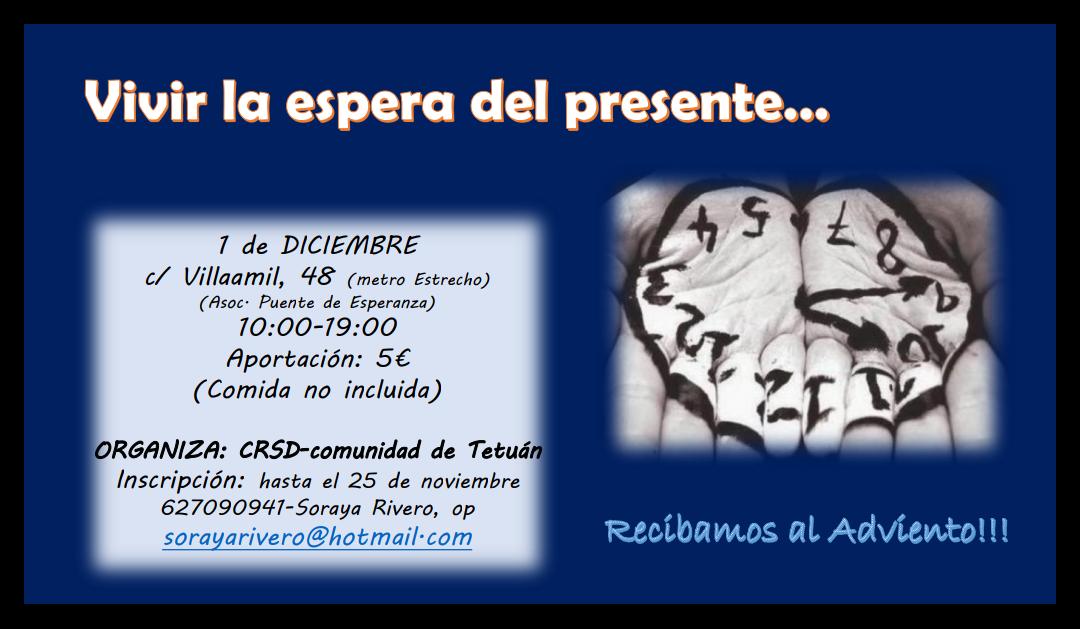 Retiro de Adviento el 1 de diciembre en Madrid