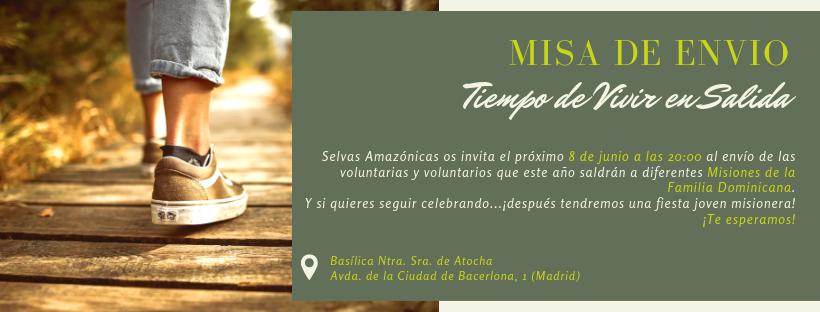 Misa de Envío y Fiesta joven misionera